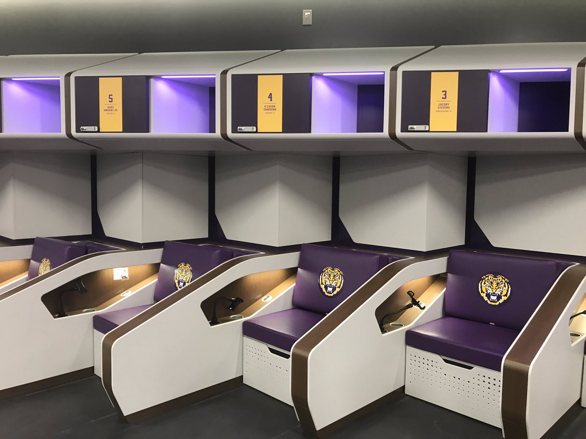 First Class Digs New Lsu Locker Room Inspired By Flight